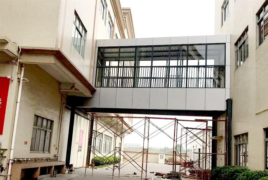 【众工工程案例】—— 钢结构连廊安装
