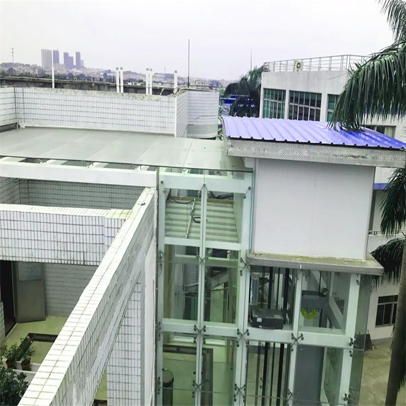 【广东众工工程安例】—— 办公楼加装电梯钢结构井
