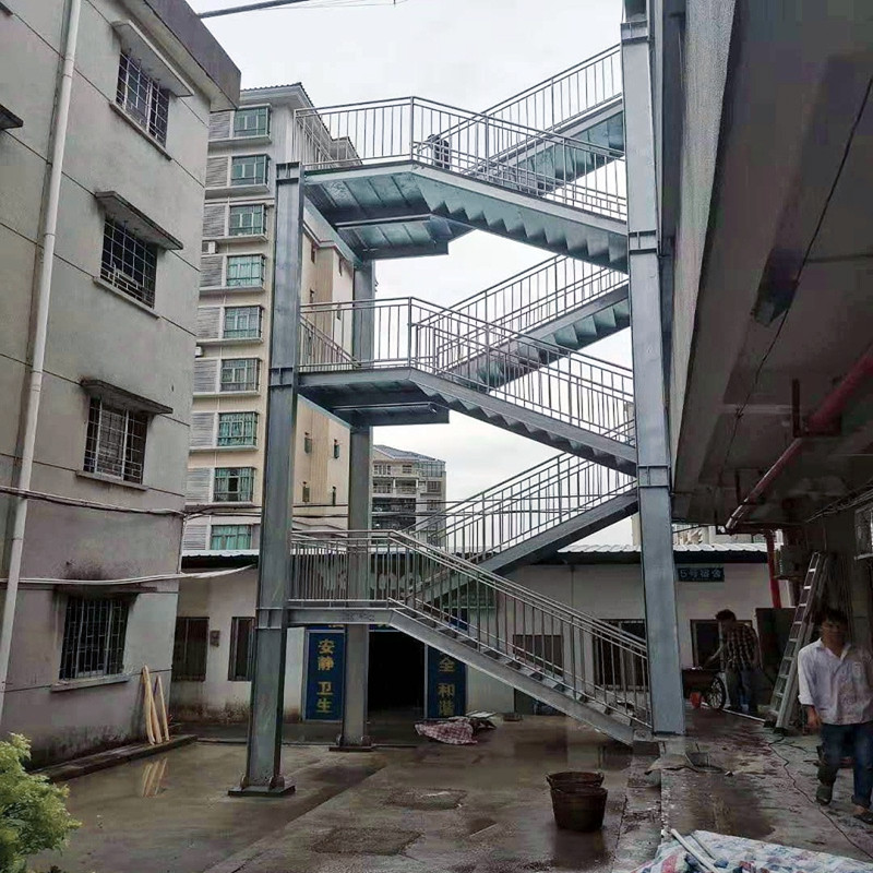 【广东众工工程案例】—— 钢结构楼梯制作