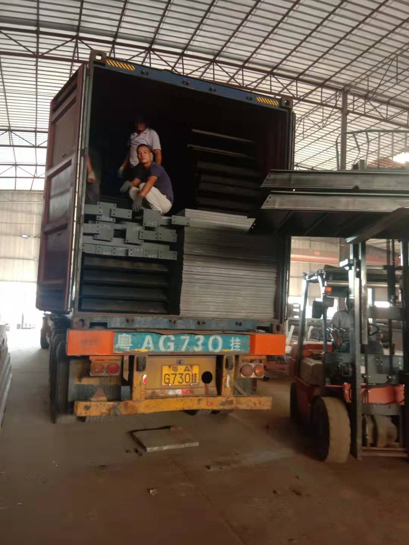 广东众工顺利发货奥地利钢结构厂房